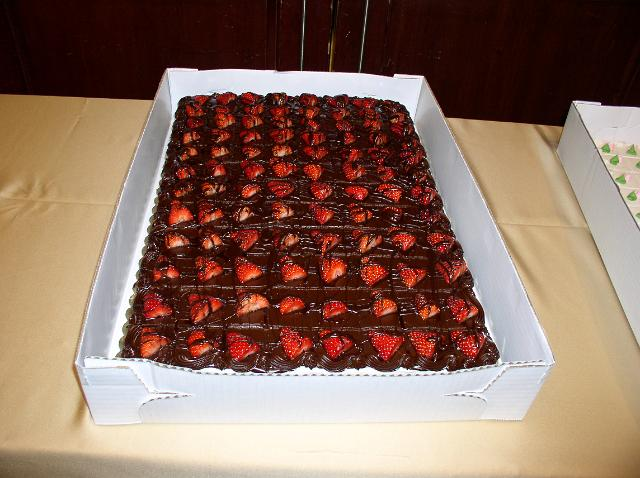 Sheet Cake With Strawberries