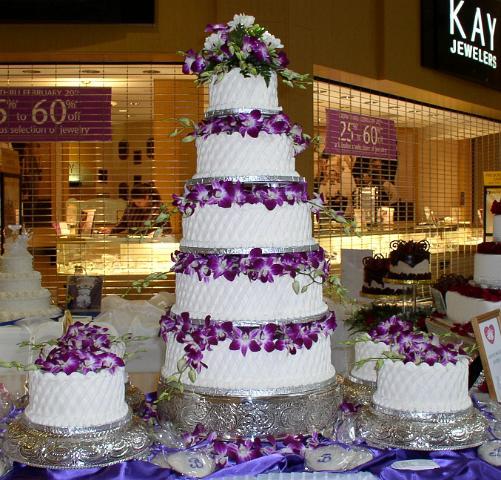Bonnie Belles Pastries Wedding Cakes 5 Tier Purple