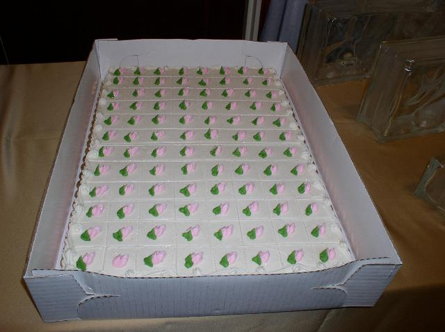 Bonnie Belles Pastries/WEDDING CAKES/pink and green sheet cake